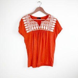 Gap boho embroidered shirt